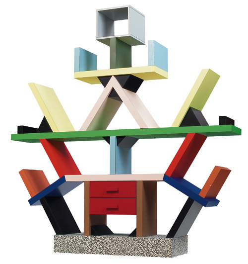 Carlton Bookcase, by Ettore Sottsass, Memphis Design
